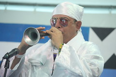 Conga Los Hoyos (2017) 06 (KM's Live Music shots) Tags: worldmusic cuba congasantiaguera congaloshoyos cornetachina suona neworleansjazzheritagefestival culturalexchangepavilion fairgroundsracecourseneworleans