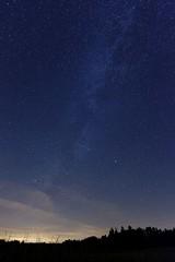 (Px4u by Team Cu29) Tags: himmel stern sterne flugzeug milchstrase landschaft nacht lichtgverschmutzung baum wiese wald waldkante schatten
