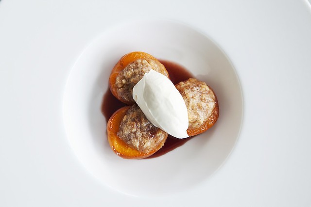 Baked Apricots © ROH. Photograph by ROH Restaurants, 2017