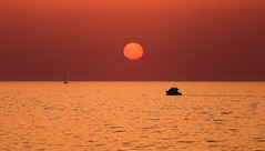 Boats at sunset - Tel-Aviv beach (Lior. L) Tags: boatsatsunsettelavivbeach boats sunset telaviv beach boatsatsunset telavivbeach travel travelinisrael israel landscapes silhouettes reflections sun nature
