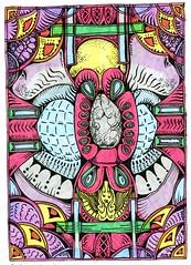 King of the Cockroaches-Pitt Artist Pen & Fudenosuke Soft Tip (molossus, who says Life Imitates Doodles) Tags: giveaway review emnotesnotebook zentangleinspiredart zentangle