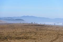 Ocean Beach (Ash and Debris) Tags: usa sand landscape pacificocean mist mountains hills rocks california blue beach ocean sanfrancisco nature wave sky people unitedstates coast rest waves