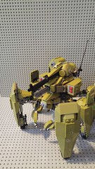 MANTIS rebuild WIP (Slick_Bricks) Tags: lego mech mecha think tank olive mutiped robot