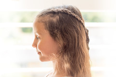 High-key portrait of Olivia (Ian Redding) Tags: angel angelic backlit beautiful beauty braided braids brunette child fashion girl hair hairstyle highkey innocence innocent plaited plaits pretty sunlight window young