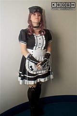 IMG_6939 (Neil Keogh Photography) Tags: apron black blouse cosplay cosplayer dokidokifestivalmanchester2016 dress female frenchmaid gloves highheels japanesemaid maidcafe mask skirt stocking sweetlolita tights white