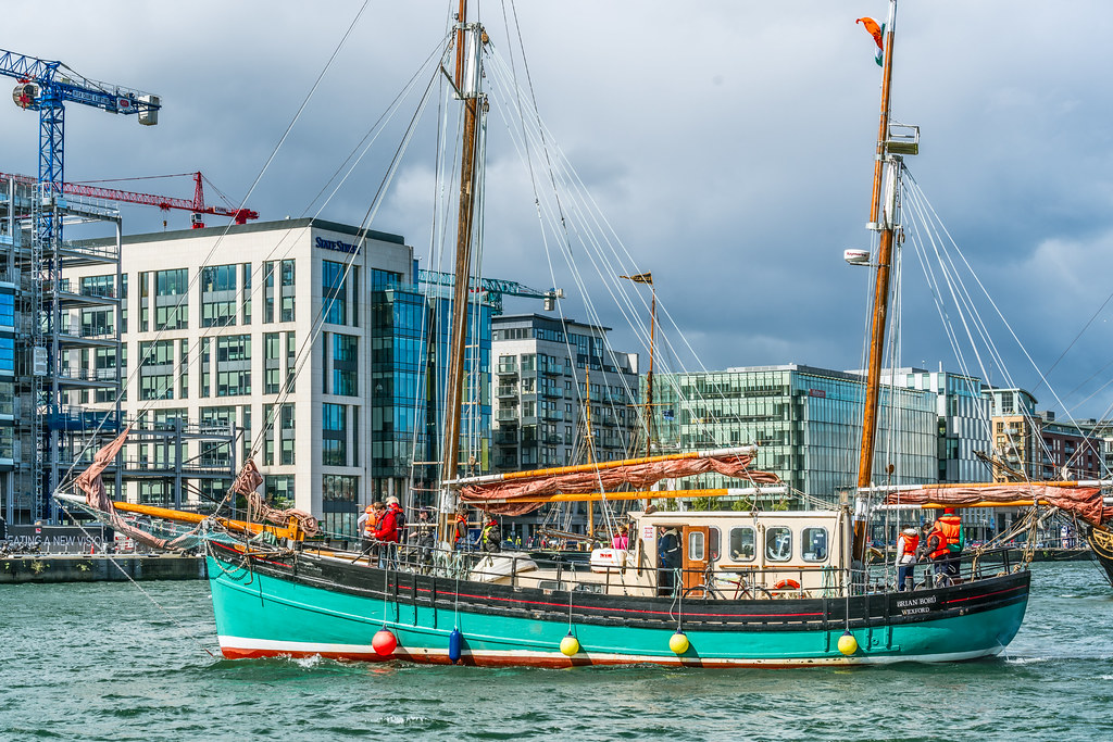 THE BRIAN BORU [SETS SAIL FROM DUBLIN AFTER THE DUBLIN PORT RIVERFEST 2017]-129417