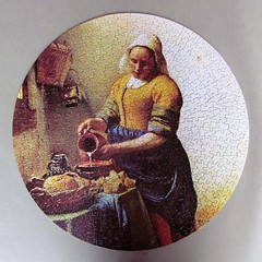 The Cook (pefkosmad) Tags: jigsaw puzzle leisure hobby pastime complete 500pieces vintage secondhand used round circular waddingtons thecook janvermeer vermeer