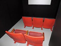 Red seats; white screen, dark room (Will S.) Tags: mypics shortfilm shortmovie short film movie clip nationalgalleryofcanada exhibit installation ottawa ontario canada