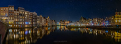 Amsterdam at Night Panorama [EXPLORED] (Frans van der Boom) Tags: paars fvdb nikon netherlands holland d800e decisive moment creative flickr flickriver explore best camera lens eyed eye scene photography fvdbphoto amsterdam reflections