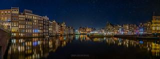 Amsterdam at Night Panorama [EXPLORED]