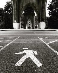 Cathedral Park (RaminN) Tags: cathedral park stjohnsbridge pdx portland oregon walksign underthebridge