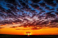 Sunset in the Heartland (Thomas DeHoff) Tags: sunset iowa reds blues clouds sony a700