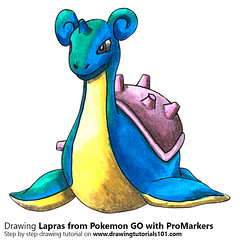 Lapras from Pokemon GO with ProMarkers [Speed Drawing] (drawingtutorials101.com) Tags: lapras pokemon go pokémon video games augmented niantic dennis hwang junichi masuda promarkers promarker alcohol markers marker color colors coloring draw drawing drawings how timelapse