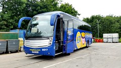 SG17 - Megabus (SGBC) Barnstaple June 2017 (Dave Growns) Tags: sg17 caetanolevante volvob9r sgbc southgloucesterbuscoach southgloucestershirebuscoach megabus southgloucesterbuscoachmegabus barnstaple northdevon barnstapledepot volvo uk bus buses coach southwest southwestbuses london publictransport