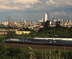 Amtrak 10 (stevensiegel260) Tags: amtrak northeastcorridor newjerseymeadowlands newyorkskyline manhattanskyline railroad train acela