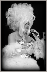 Drag-glam (* RICHARD M (Over 6 million views)) Tags: street candid portraits portraiture candidportraits candidportraiture streetportraits streetportraiture mono blackwhite dragqueen dragartiste drag femaleimpersonator stageshots dragglam hahaglam wigs sequins glitter glitz bling liverpoolpride lgbt gay liverpool merseyside capitalofculture europeancapitalofculture unescocityofmusic cityofmusic singer singing entertainer entertainment performer performance camp campqueen queen liverpudlians scousers ott omg curlywig bleachedblonde bleachedblondewig glitzy