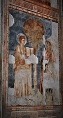 """""""Saint Thomas Apostle (left, with book) and Prophet"""" - fresco (about 1320) by Pietro Cavallini's follower on his project - Donnaregina Vecchia Church-Museum in Naples (Carlo Raso) Tags: apostle prophet donnaregina naples italy pietrocavallini"""