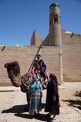 Local tourists, Khiva (jozioau) Tags: variosonnart282470 tourists bactriancamel khiva oldcity