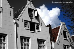Tris (Ecinquantotto ( + 1.190.000 grazie !! )) Tags: architettura architecture amsterdam amstel holland olanda bn bw blackwhite colori colors clouds house d3000 dream finestre windows window nikon nikond3000 nuvole