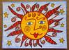 Doodle Sun (purple_24) Tags: atc arttradingcard sun summer zendoodle swapbot drawing coloredpencil