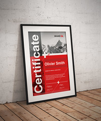 Swiss Style Certificate (Snowboy Design) Tags: achievement acknowledgement appraisement appreciation certificate corporate course creative diploma education excellence graduation helvetica internationaltypographicstyle moderncertificate modernism neue print printready professional red school student summit swiss swissstyle template