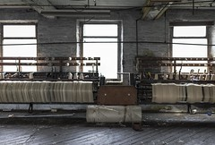Weaving (Camera_Shy.) Tags: old mill textile cotton uk derelict urban exploration machinery machine ue abandoned disused urbex decayed industrial industry tresspassing nikon