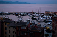 Blue hour in Santa Margherita Ligure (Niclas Matt) Tags: blue hour bluehour art light artwork landscape landscapephotography harbour italy italytrip liguria santa margherita ligure portofino violet sky reflections