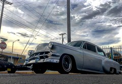 1954 chevy (El Cheech) Tags: gloomy cruise runwiththerumblers2017 runwiththerumblers rumblersccalbuquerque rumblersalbuquerque rumblernation rumblerscc rumblers slowrider newmexico albuquerque 2tone twotone lowered airbags chrome carshow sky clouds hotrod lowrider bombita bomb 1954chevy 54chevy 1954 chevrolet chevy