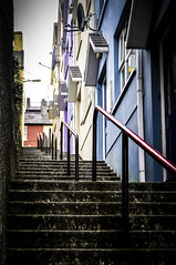 Stairway to heaven (lupevic) Tags: stairs colorfulhouses ireland perspective