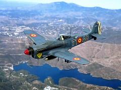 1:72 Hispano Aviación HA-1106 'Alción'; '71-48' of the Ejército del Aire (Spanish Air Force), 71 Escuadrón de Cazabombardeo; Gando AB (Las Palmas), Canary Islands; 1950 (Whif/Academy kit conversion) (dizzyfugu) Tags: 172 hispano aviacion focke wulf 190 würger wurger alcion kingfisher fighter deep blue ejecito del aire spanish air force canary whif whatif fictional aircraft aviation german nc 900 nc900 snca merlin ha1112 ha1109 post wwii reengined 71 escuadrón de cazabombardeo gando las palmas africa 1950