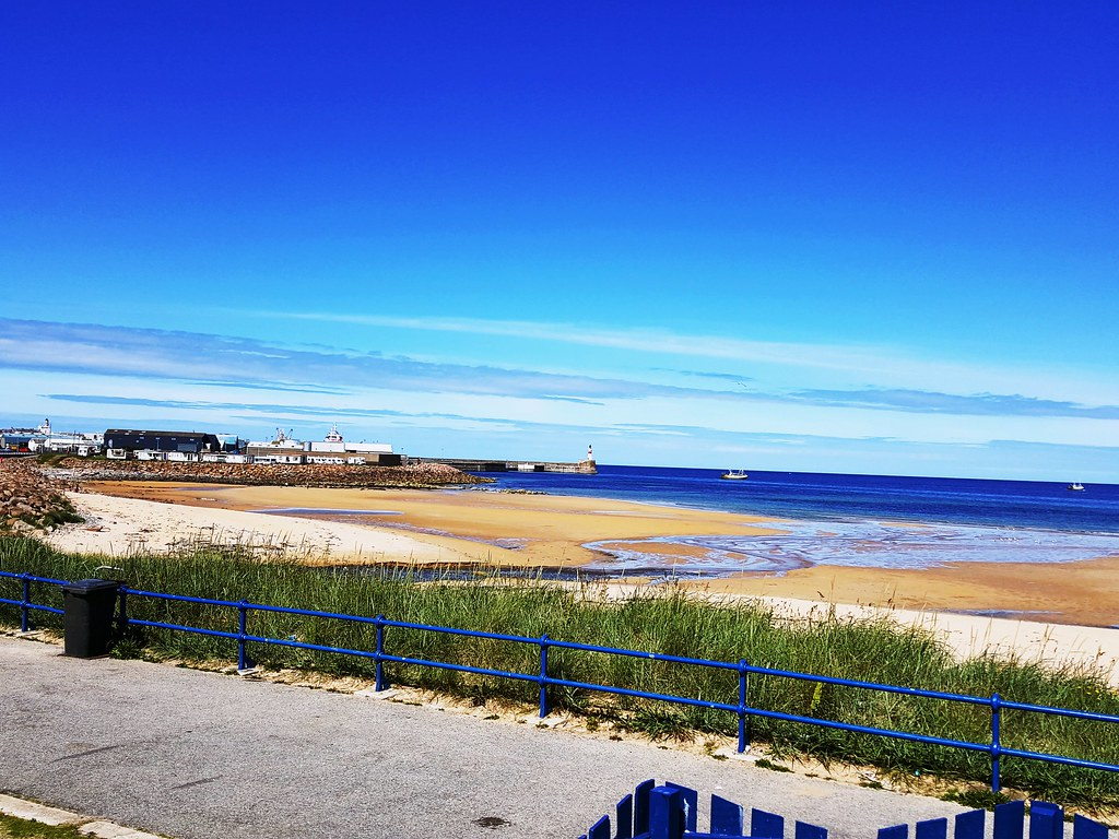Fraserburgh Beach & Harbour Entrance