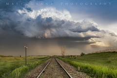 All Down The Line (Matt Grans Photography) Tags: stormcloud clouds stormy weather convection railroad tracks sky