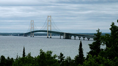 The Bridge (joeldinda) Tags: sony dsch55 sonydsch55 sonycybershot cybershot pocketcam 2015 vacation michigan straitsofmackinac saintignace upperpeninsula stignace sky cloud mackinacstraitsbridge tree 2870 june onthisdate 165366
