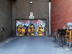 (navejo) Tags: montreal quebec canada garage door mural bike yellow