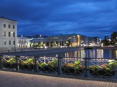 Stora Hamnkanalen at Tyska bron, summer twilight, Gothenburg, Sweden (Paul McClure DC) Tags: gothenburg göteborg sweden sverige july2015 historic architecture