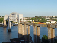 70810 Royal Albert Bridge, Saltash (1) (Marky7890) Tags: colasrail 70810 class70 6c87 royalalbertbridge railway saltash cornwall cornishmainline train
