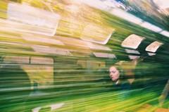 The Balance (elanabb) Tags: train machu picchu girl journey travel line green reflection