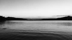 Mono Lake (Natalya Karavay) Tags: dusk sunset glowing shadow darkness solitude stillness poetic poetry minimalism minimal horizon nature seascape sea noir silhouette reflection monochromatic monochrome blackandwhite water lake