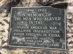 Three Wars (Crawford Brian) Tags: plaque memorial marker sign monument spanishamericanwar boxerrebellion phillipineinsurrection china oakpark ridgelandcommon park illinois midwest usa
