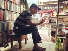 The Reading Portrait of a Beloved Secondhand Bookseller (Mayank Austen Soofi) Tags: delhi walla the reading portrait beloved secondhand bookseller