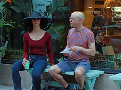 """Goddess on Wabash"" - Downtown Chicago - 10 Jun 2017 - 7D II - 087 C (Andre's Street Photography) Tags: chicago10jun20177dii chicago downtown wabash goddess goddessonwabash icecreamshop couple man woman color portrait streetportrait streetphotography straat straatportret straatfotografie candid hat beautiful colorful stylish mysterious fashonable interesting fascinating bald pale attractive unattractive strasse strada fotografiedistrada streetlife urbanlife lifestyle hip loop chitown photobyandrevanvegten chicagoist chicagoistphotos tributetoedvanderelsken dedicatedtodianearbus robertfranksworld dutchstreetphotographers chicagostreetphotographer chicagostreets enjoyillinois illinois aroundillinois chicagotribune chicagojournal chicagomagazine chicagoreader canon eos 7d 7dmarkii ef prime 50mmprime primelens 50mm efprime"