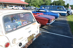 Classic Cars Corvair Club Hoyt's Restaurant Lexington, NC 20170710_4267 (Shane's Flying Disc Show) Tags: classiccars corvairclub davidson nc lexinton unsafeatanyspeed daredevils