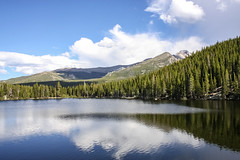 Lake - RMNP (Yer Photo Xpression) Tags: ronmayhew canoneos40d laurencrocker rockymountainsnationalpark lake sky mountain forest