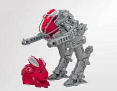 Commander Carrots' Exosuit (Si-MOCs) Tags: commandcarrots wabbit rabbit lego mecha hoppityhop sorryconner