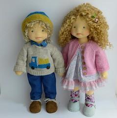 AJ and Francesca (Dearlittledoll) Tags: dearlittledoll waldorfdoll steinerdoll limbeddoll organicdoll puppets handmade handmadedoll