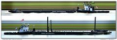 Lekstroom 1 + Christina (Morthole) Tags: ship boat schip boot barge binnenvaart schiff rheinschiff lekstroom1christina sleepboot tugboat tug schlepper remorqueur towboat duwboot schubboot poussage poster slitscan