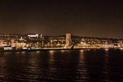 D16291E7 - Approaching Lisbon At Night (Bob f1.4) Tags: approach lisbon portugal night land ahoy water 13 day atlantic crossing sailing vessel ship wind surf owned by windstar light shore line shoreline city calm seas