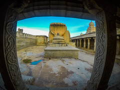 Veerbhadra Temple, Andhra Pradesh, India (yugantarora) Tags: lepakshi andhrapradesh india in sky reflection travel architecture temple arch outdoors ruins hinduism wideangle gopro ramayana southindia incredibleindia shivlinga withlove oldcity lordvishnu cityarchitecture morningshot indiainmylens hindugods traveldove southtemples oldtemple indiantemples lordrama indiaimages indiapictures indiatrip indiaheritage indiaphoto indianruins indiangods indiasculptures indianmonuments temples templeruin templegods