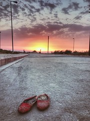 Every pair of shoes has a story~ Lebanon (~mimo~) Tags: photography street outdoor nature road sunset mobile shoes shotoniphone iphone7 iphone chekka lebanon
