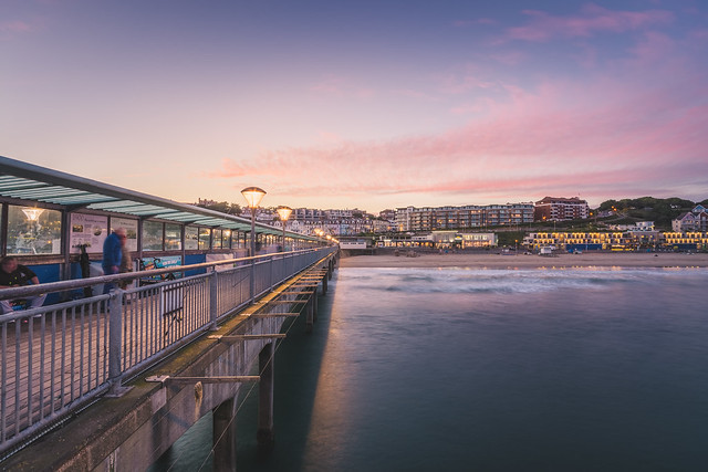Sunset from the Boscombe pier